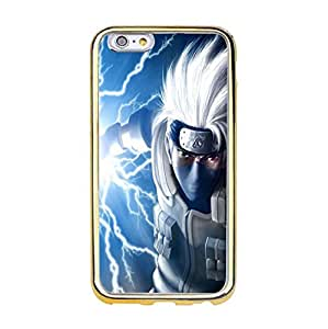 Naruto Phone Case,Hot Classical Japanese Anime Naruto Premium Iphone 6/6s (4.7 inch) Gold Frame Phone Case Cover