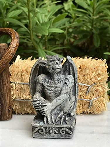 Miniature Dollhouse FAIRY GARDEN Mini HALLOWEEN Gargoyle Statue Figurine NEW (Gargoyle Lawn Ornaments)