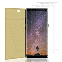 Galaxy Note 8 Screen Protector, Not Glass, NOKEA [Crystal Clear] [Easy Bubble-Free Installation] [Scratch Resist] [Full Coverage] 99.9% HD Clear Film for Samsung Galaxy Note 8 (2 Pack)