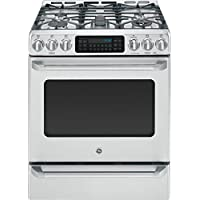 GE C2S985SETSS Cafe 30 Stainless Steel Dual Fuel (Gas) Sealed Burner Range - Convection