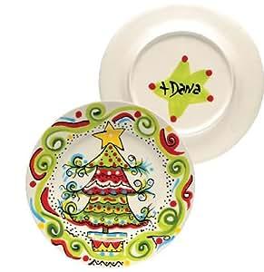 Dana Wittmann Holiday Collection Christmas Tree Plate