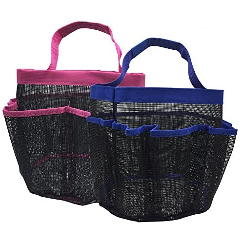 kinla Gym Dorm Shower Caddy Tote (Pack of 2)-Quick Dry Hanging Mesh Shower Caddy Bag,Bath Shower Organizer Perfect for Dorm Gym School and Travel Multi-Colored free shipping