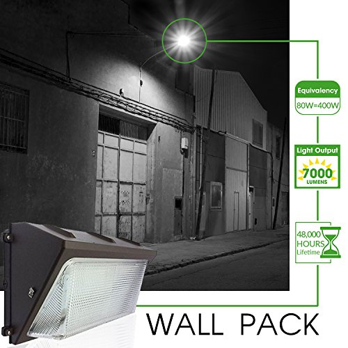 Dimmable Outdoor Patio Lights: UL & DLC Listed- LED 80W Wall Pack DIMMABLE Outdoor