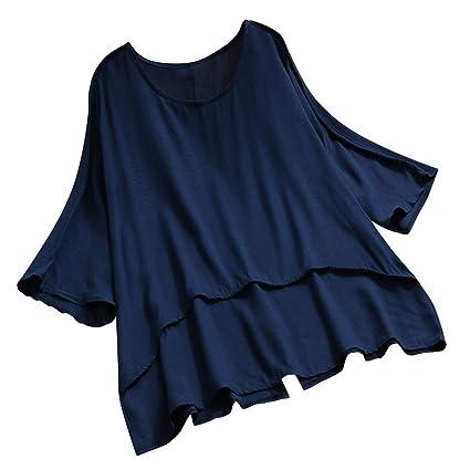 Wave166 Mujeres Verano Camisetas Pullover Casual Camisa ...