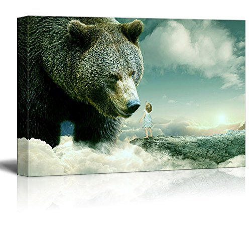 Fantasy Series Little Girl Reaching out for a Bear