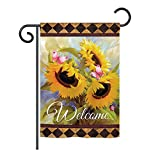 Ornament Collection GS191022-BO Welcome Sunflower Spring Spring Floral Impressions Decorative Vertical 13