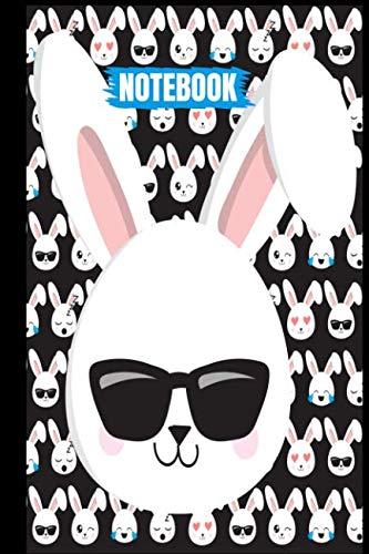 Emoji Bunnies:: Boys Easter  Bunny Emojis Rabbit Easter Eggs Easter Basket Stuffers Cool Sunglasses Black Cover Easter Gifts for Kids Family Writing ... Matte (The Easter Legends - Emoji ()