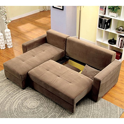 Furniture Of America Truesdale Convertible Storage Sectional Sofa Best Sofas Online Usa