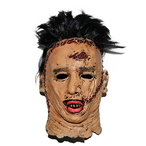 The Texas Chainsaw Massacre Latex Masks Scary Movie Cosplay Halloween Costume Props