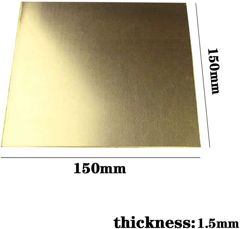 LEISHENT Feuilles De Laiton 150x150mm-Thickness 1.5mm
