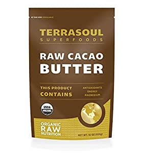 Terrasoul Superfoods Raw Organic Cacao Butter, 16 Ounces