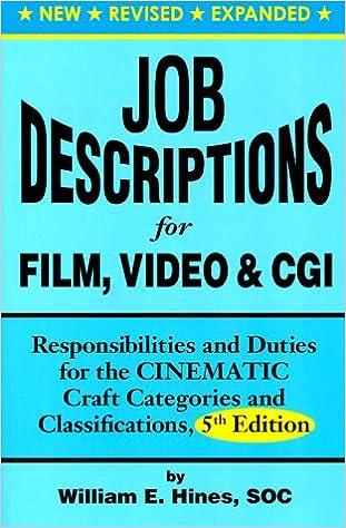 Amazon Com Job Descriptions For Film Video Cgi Computer