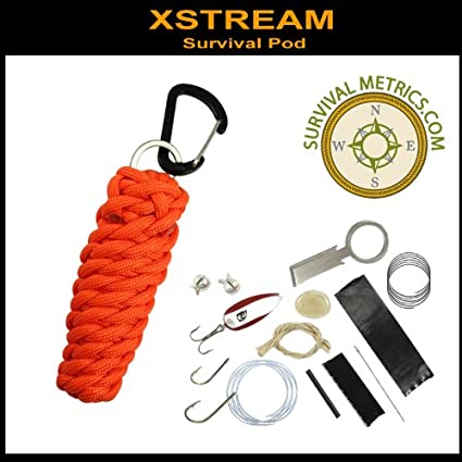 Amazon.com: Xstream Survival Pod – 550 Paracord & Survival ...