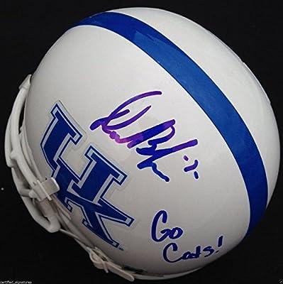 Drew Barker Signed Kentucky Wildcats Helmet Go Cats Inscr Autographed Coa J1