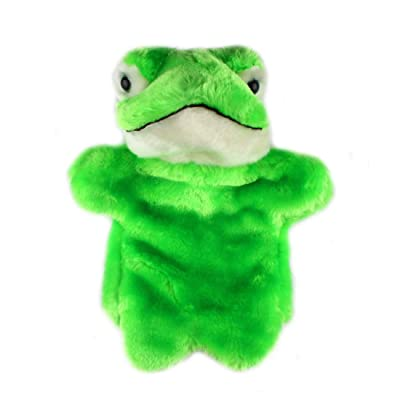 Andux Land Cute Plush Hand Puppet Soft Stuffed Animal Toy (SO-30 Frog): Toys & Games