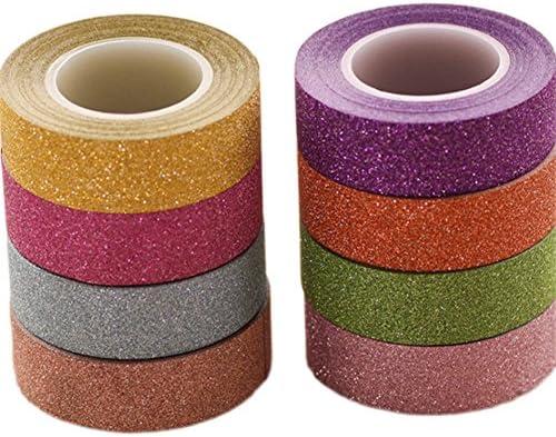 Ruikey テープ かわいいテープ マスキングテープ カラフルテープ 純色 8巻セット