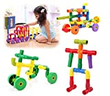 Happy Cherry Plastic Tube Waterpipe Pipeline Building Blocks Pipe Construction Plug Match Assembling Water Development Puzzle Toy for for Kids Children Boys Girls