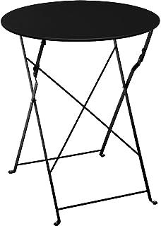 Metall Bistrotisch Ø 60 Cm In Schwarz   Platz Sparend Zusammenklappbarer  Gartentisch / Beistelltisch