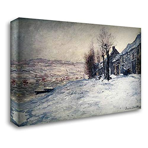 (Lavacourt Under Snow 24x19 Gallery Wrapped Stretched Canvas Art by Monet, Claude)