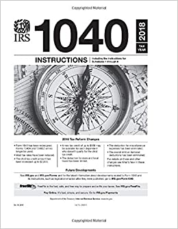 Form 1040 instructions.
