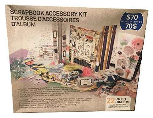 Westrim Crafts Scrapbook Accessory Kit with 22 Packs