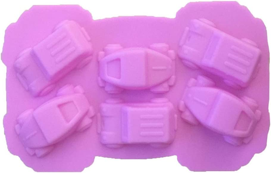 Random Color Baking Silicone Fondant Sugarcraft Racing Car Cake Decorating Soap Mold Mould