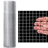 Goplus 1/2 inch Hardware Cloth 48'' x 50' Galvanized Welded Cage Wire, Plant Supports Poultry Enclosure Rabbit Chicken Run Fence Window Doors Wire Fence (48'&#0