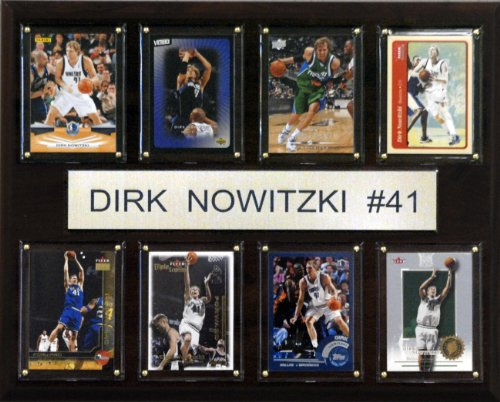 NBA Dirk Nowitzki Dallas Mavericks 8 Card Plaque by C&I Collectables