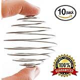 Zeta Athletics Blender Stainless Mix Shaker Ball - by 10 PACK