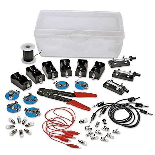 Nasco Student Electricity Assortment - Classroom Electronics Spare Parts Kit - 40+ pieces