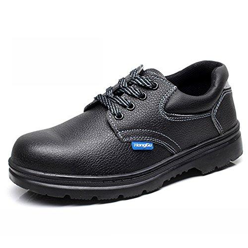 Chaussures de sécurité en cuir Anti-écrasement et Anti-perçage pour travailler 024