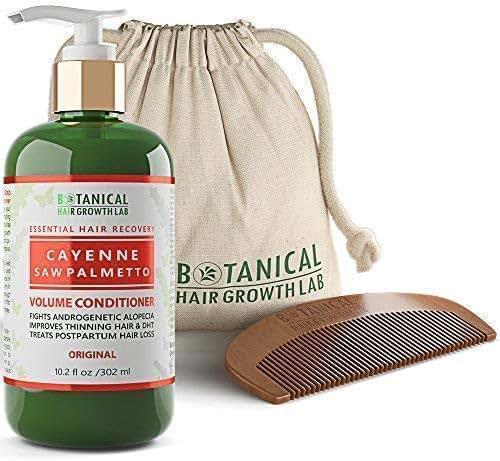 Botanical Hair Growth Lab Cayenne - Saw Palmetto Hair Loss Conditioner DHT Blocker For Hair Thinning Prevention Alopecia Postpartum 10.2 Fl Oz