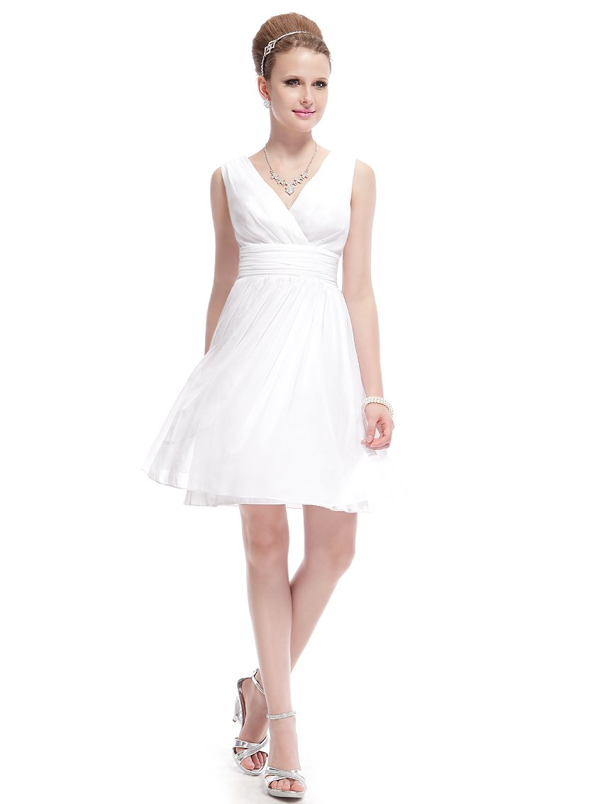 Ever-Pretty HE03989WH12, Ivory, 10US, Formal Summer Dresses For Juniors 03989