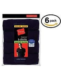 Hanes Men's FreshIQ Crew T-Shirt (Pack of 6) (Large, Navy...