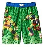 Nickelodeon Boys' Teenage Mutant Ninja Turtles Green Swim Trunks (4)