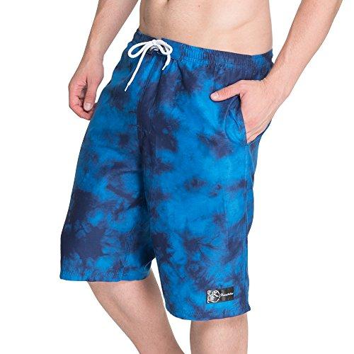 NAMITATSU Surf Pants - Dark Tie Dye Print (3L, Navy) X114-751