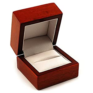 Luxury Wooden Light Brown Mahogany Ring Box  sc 1 st  Amazon UK & Luxury Wooden Light Brown Mahogany Ring Box: Amazon.co.uk: Jewellery Aboutintivar.Com