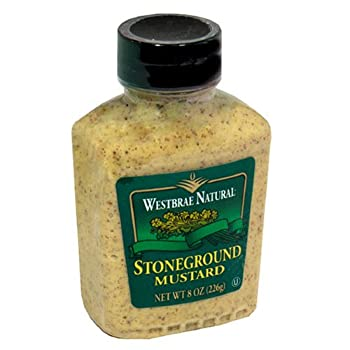 Westbrae Natural Stoneground Mustard, 8 Ounce (Pack of 12)