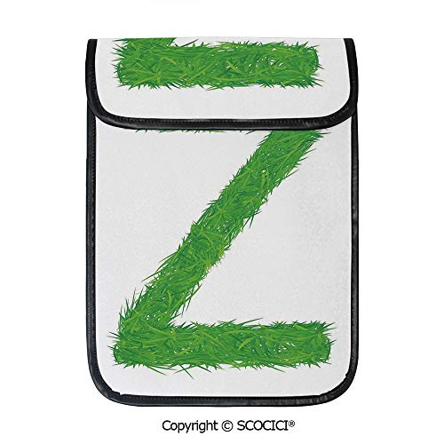 (SCOCICI iPad Pro 12.9 Inch Sleeve Tablet Protective Bag Spring Capital Z Made Out of Grass Ladybug Daisy Chamomile Flowers Decorative Custom Tablet Sleeve Bag Case)