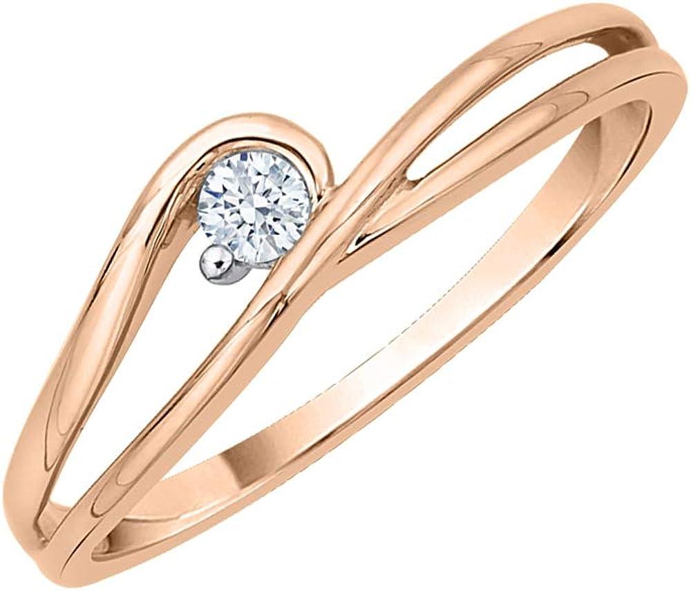 G-H,I2-I3 3 Diamond Promise Ring in 10K White Gold Size-9 1//20 cttw,