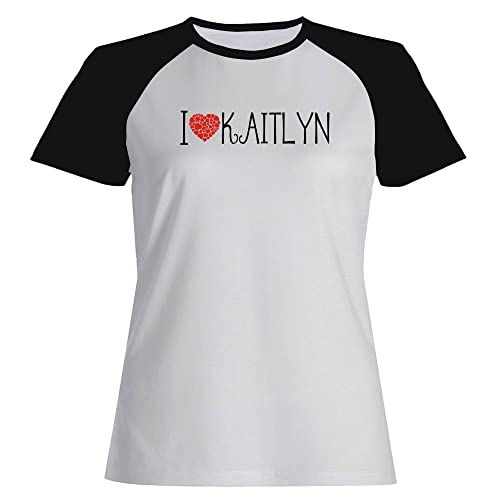Idakoos I love Kaitlyn cool style - Nomi Femminili - Maglietta Raglan Donna