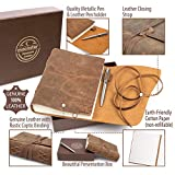 LEATHER JOURNAL Gift Set Handmade - Ideal Present