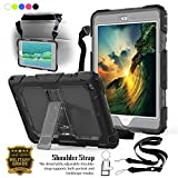 ipad 1 skin - iPad Mini 1 Case, iPad mini 2 3 Case, [Heavy Duty] 3-Layer Shockproof Full-body Protective Rugged Cover Skin Built with Kickstand & Shoulder Strap For iPad Mini 1 2 3 1st 2nd 3rd Gen (Grey)