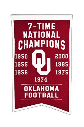 Winning Streak NCAA Oklahoma Sooners Champions Banner