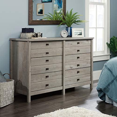 Sauder Cottage Road Dresser, L 56.77 x W 19.29 x H 35.35 , Mystic Oak