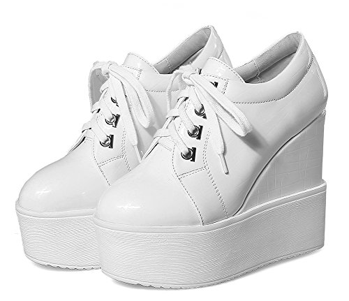 Confort Lacets Fermeture Easemax Voyage Rond Bout à Plateforme Femme Sneakers Iaxv5qvCw