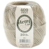 Darice 400-Feet Hemp Cord, 20-Pound Weight, Natural