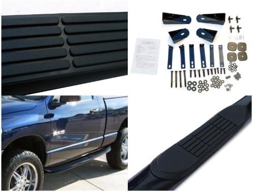 Spec-D Tuning SSB3-RAM02RCBK-WB Black Dodge Ram 1500 2500 3500 Reg Cab Stainless Side Step Bar