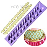 Anyana Fritters twist rope cake long border mould Silicone chocolate Fondant Mold Cake Decorating Gum Paste Kitchen Tool Sugar icing Baking decoration Pastry cupcake isomalt pie crust decor