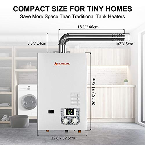 Camplux 10l 2 64gpm Indoor Color Screen Propane Tankless